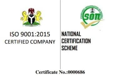 SON Certificate for A-Ilupeju E.N.T Hospital